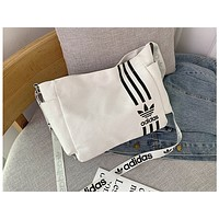 ADIDAS x NIKE Fashion Lady Printed Canvas Single Shoulder Bag ADIDAS white