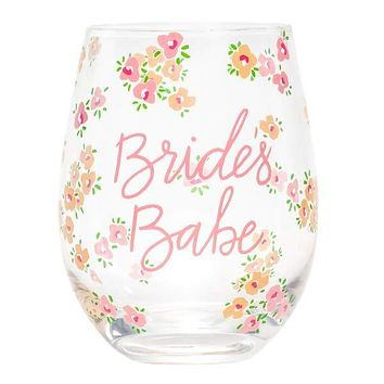 ABOUT FACE DESIGNS BRIDE'S BABE STEMLESS WINE GLASS
