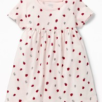 Empire-Waist Crew-Neck Dress for Baby  old-navy
