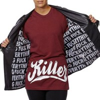 Women's Fuck Everything Loose Leather Jacket