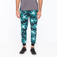 Elwood Photoreal Floral Mens Jogger Pants Mint  In Sizes