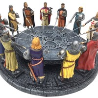 Knights of the Round Table King Arthur Legend Medieval Reenactment Sculpture 11W