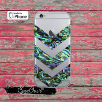 Abalone Shell Chevron Pattern Paua Tumblr Clear Case iPhone 6 iPhone 6s iPhone 6s Plus iPhone 5/5s iPhone 5c iPhone SE Case iPhone 7 Plus