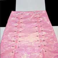 SWEET LORD O'MIGHTY! THE XTINA SKIRT IN SHIMMERY PINK