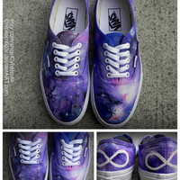 Galaxy Print Toms or Vans by AshKetchmm