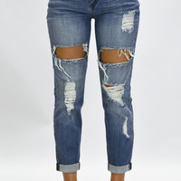 Grunge Ripped Jeans