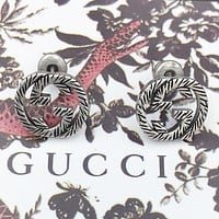 GUCCI Fashion new letter earring women accessories Silver