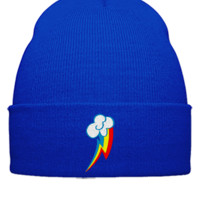 RAINBOW DASH my little pony Embroidery - Beanie Cuffed Knit Cap