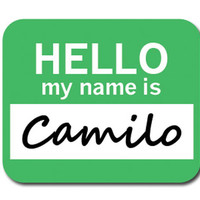 Camilo Hello My Name Is Mouse Pad