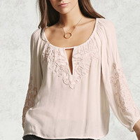 Beaded Boat Neck Top