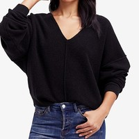 Free People Take Me Places Seamed Oversized Sweater Juniors - Sweaters - Macy's
