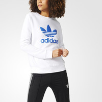 """""""Adidas"""" Women Sports Casual Clover Letter Print Long Sleeve Sweater Pullover T-shirt"""
