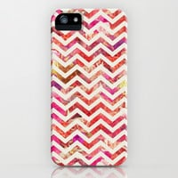 FLORAL CHEVRON iPhone & iPod Case by Bianca Green