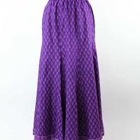 Cotton long skirt, 'Radiant Orchid Blossom'