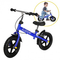 Children Kids Training No-Pedal Balance Bike Learn To Ride Bicycle Blue