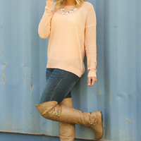 If You're Not Ready To Go Home Sweater: Light Blush