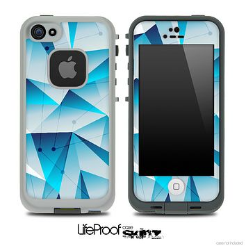 Blue Abstract Connect Skin for the iPhone 5 or 4/4s LifeProof Case