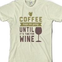 coffee and wine-Unisex Natural T-Shirt