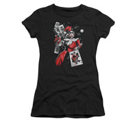 Harley Quinn Card Dealer Juniors T-Shirt