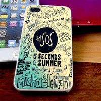 5 Seconds Of Summer Case For iPhone 4/4s iPhone 5s/5c and Samsung Galaxy S3/S4