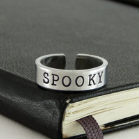 Spooky Ring - Halloween -  Horror - Goth - Aluminum Ring