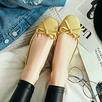Women Flats Casual Loafers Shoes Bow Ballet Shoes
