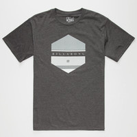 Billabong Means Mens T-Shirt Charcoal  In Sizes