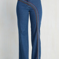Vintage Inspired Flare Rainbow with Me Jeans
