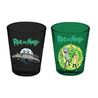 Rick and Morty - Teleporting Two Pack Shot Glass Set