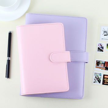 Passion leather spiral notebook Original office personal diary week planner agenda organizer Cute ring stationery binder A5 A6
