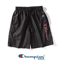 CHAMPION Popular Women Men Sports Running Quick-Drying Shorts Black