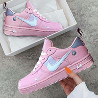 Bunchsun NIKE AIR FORCE 1 DUMR New fashion hook couple shoes Pink