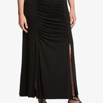 Ruched Panel Maxi Skirt