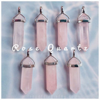 Rose Quartz crystal point pendant, necklace, choker