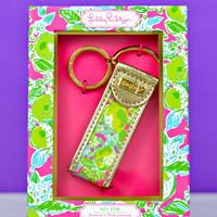 LILLY PULITZER: Key Fob - Pink Lemonade
