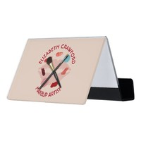 Makeup Artist Stylist Beauty Salon With Your Name Desk Business Card Holder