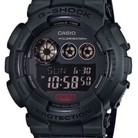 Casio G-Shock Chronograph with Flash Alert - Black Case and Strap - 200m