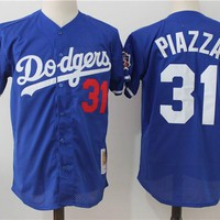 Men's Los Angeles Dodgers Joc Pederson Majestic Home Royal Flex Base Authentic Collection Player Jersey