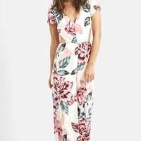 Women's KENDALL + KYLIE at Topshop Floral Print Jumpsuit,