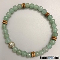 DREAMS: Green Aventurine | Lotus | Yoga Chakra Bracelet