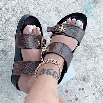 Louis Vuitton LV Open Toe Sandals