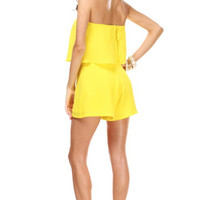 For the Home Team Romper (Yellow)