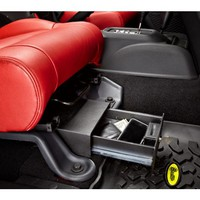 Bestop® Locking Under Seat Storage Box in Textured Black | Jeep Parts and Accessories | Quadratec
