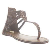 Braided Ankle Strap Gladiator Sandals | Wet Seal