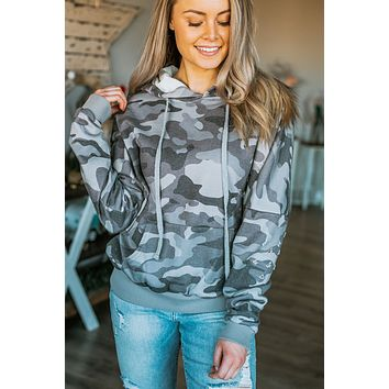 When You're With Me Hoodie - Distressed Camo