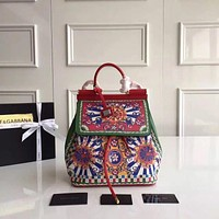D&G DOLCE & GABBANA WOMEN'S LEATHER BACKPACK BAG