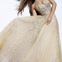Prom Dresses, Celebrity Dresses, Sexy Evening Gowns at PromGirl: Long Strapless Sweetheart Sequin Dress