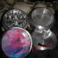 Star Nebula 4 Piece Grinder Herb Spice Aircraft Grade Aluminum C.N.C from Cognitive Fashioned