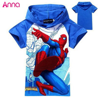 2017 NEW boy's Children's T-shirt 100% cotton kid's summer wear spring  baby & kids band top and tees cartoon character print