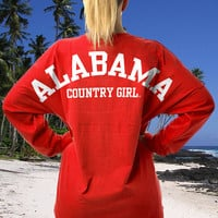 Juniors Country Girls™ Varsity Alabama LS Spirit Tee